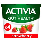 Activia Strawberry Yogurts