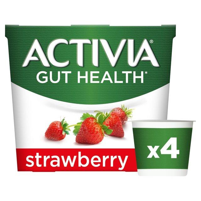 Activia Strawberry Yogurts | Ocado