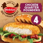 Birds Eye 4 Chicken Quarter Pounder Burgers Frozen