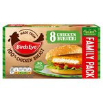 Birds Eye 8 Chicken Burgers Frozen
