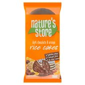 Nature's Store Gluten Free Dark Chocolate & Orange Rice Cakes