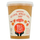 Tideford Organic Red Lentil Soup with Apricots & Crushed Chillies