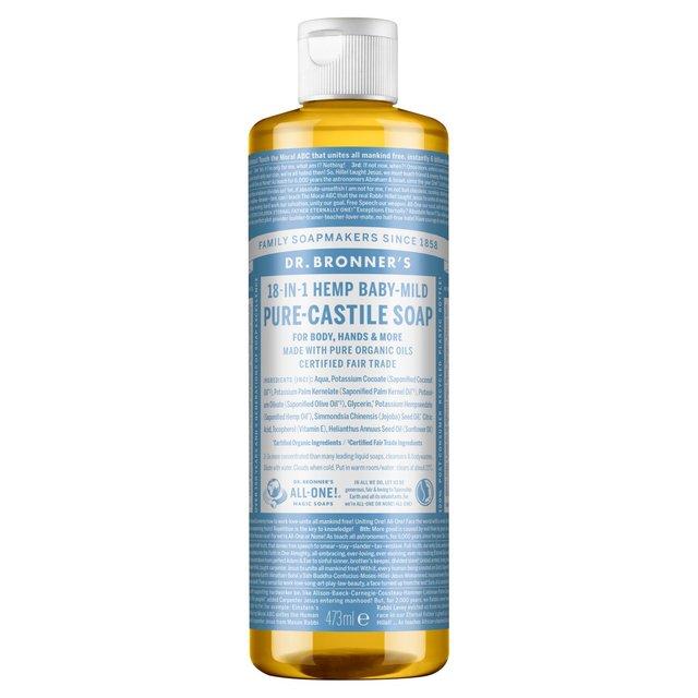 Dr Bronner Organic Baby Mild Castile Liquid Soap 473ml
