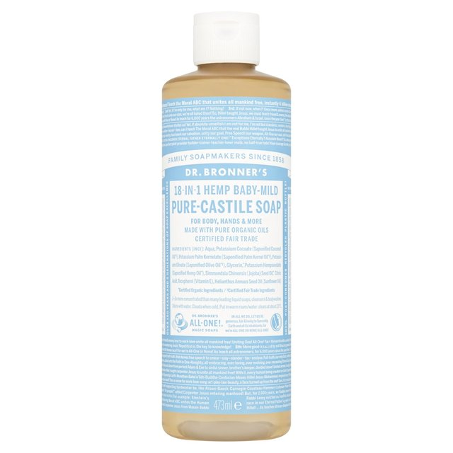 dr bronner organic baby mild castile liquid soap 473ml from ocado. Black Bedroom Furniture Sets. Home Design Ideas