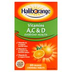 Haliborange Vitamins A, C & D Chewable Tablets 60s