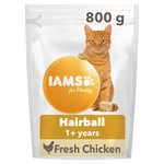Iams Adult Dry Cat Food Hair Ball Chicken