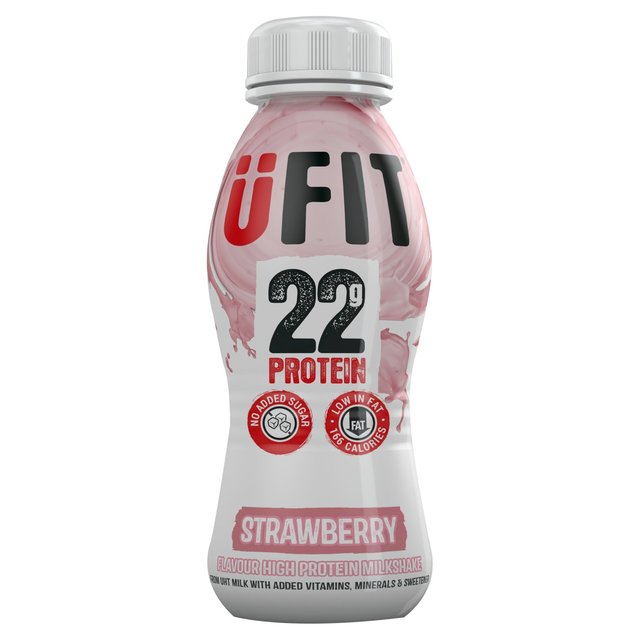 Ufit protein shake drink strawberry 310ml from ocado for Perfect drink pro review
