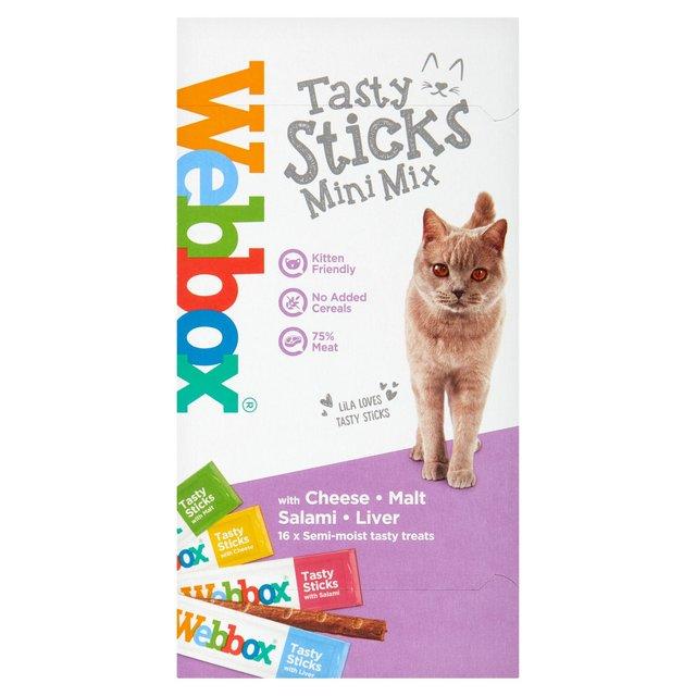 Webbox Cats Delight Tasty Mini Sticks with Cheese, Salami