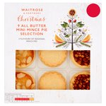 Waitrose 9 Mini Mince Pies Assorted Flavours Christmas
