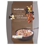 Waitrose Crunchy Maple & Nut Muesli