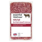 Essential Waitrose British Beef Mince (typically 15% Fat)