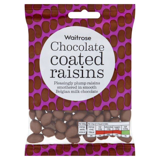 Waitrose Belgian Milk Chocolate Raisins 150g From Ocado