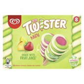 Twister Mini Ice Cream Lolly Pineapple, Strawberry, Lemon & Lime Flavour