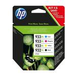 HP 932 XL & 933 XL 4 Colour Ink Cartridge Combo Pack