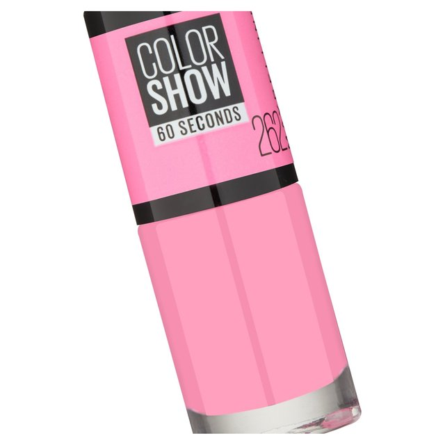 Maybelline Nail Color Show, Pink Bloom 262 7ml from Ocado