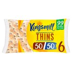 Kingsmill 50/50 6 Sandwich Thins