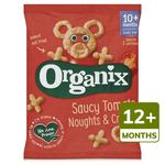 Organix Tomato Noughts & Crosses Finger Food Toddler Snack Corn Puffs