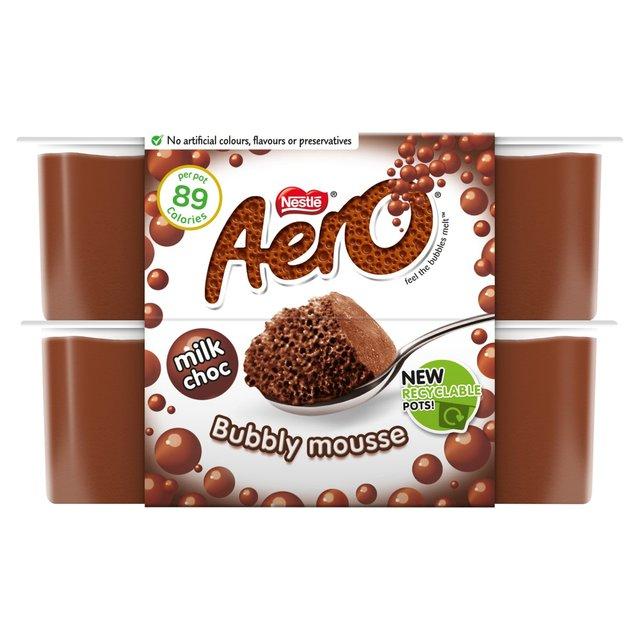 nestle aero chocolate mousse 4 x 59g from ocado