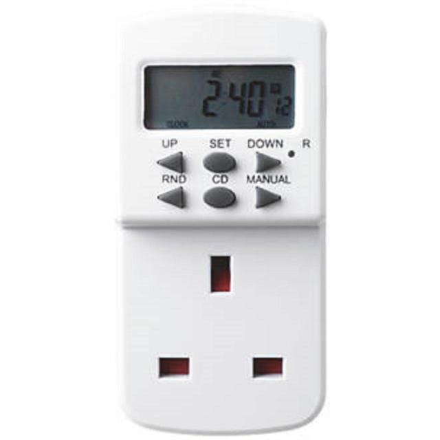 Masterplug 7 Day Electronic Timer Plug