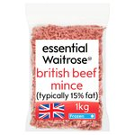 Essential Waitrose Frozen British Beef Mince