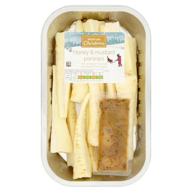 Waitrose Honey & Mustard Parsnips 500g from Ocado