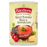 Baxters Vegetarian Spicy Tomato & Rice with Sweetcorn Soup