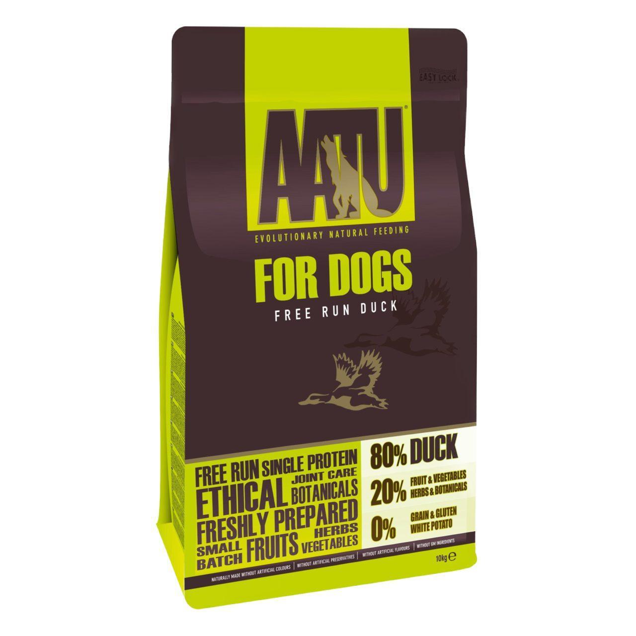 An image of AATU 80/20 Duck Complete Grain Free Dry Dog Food