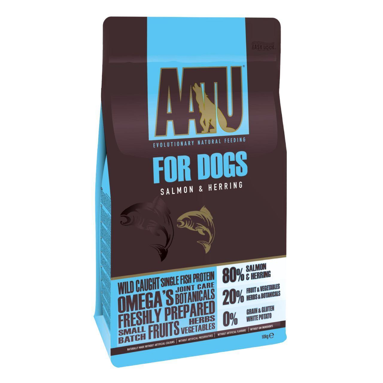 An image of AATU 80/20 Salmon Complete Grain Free Dry Dog Food