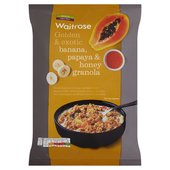 Waitrose Golden & Exotic Banana, Papaya & Honey Granola
