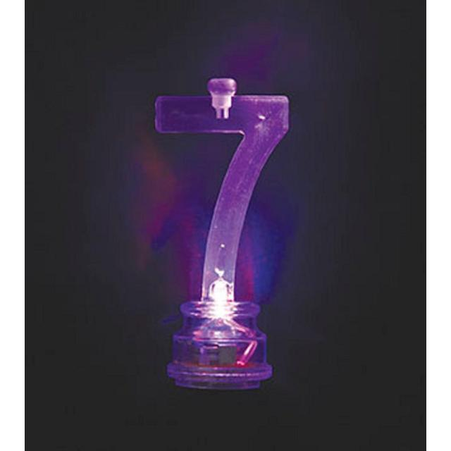Number 7 Flashing Candle Holder With 4 Candles From Ocado