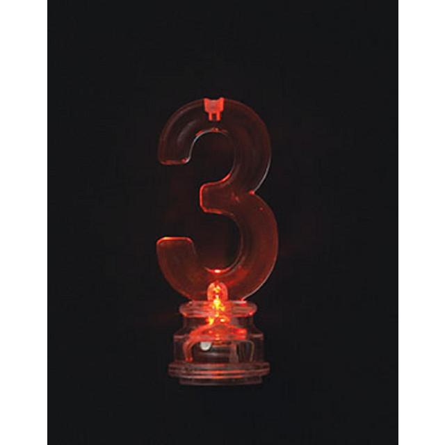 Number 3 Flashing Candle Holder With 4 Candles From Ocado