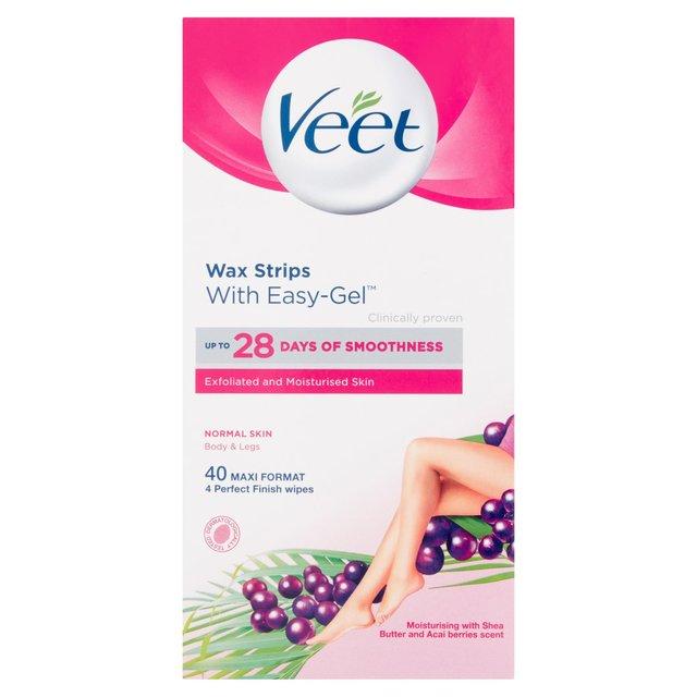 Veet Wax Strips Normal Skin For Body | Ocado