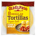 Old El Paso Super Soft Corn & Wheat Tortillas x8