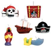 Pirates Treasure Mini Moulded Cake Candles