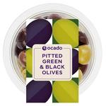 Ocado Pitted Green & Black Olives