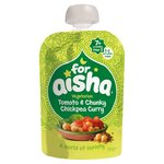 For Aisha Vegetarian Tomato & Chunky Chickpea Curry