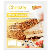 VBites White Cheddar Style Cheezly Dairy Free Cheese Alternative