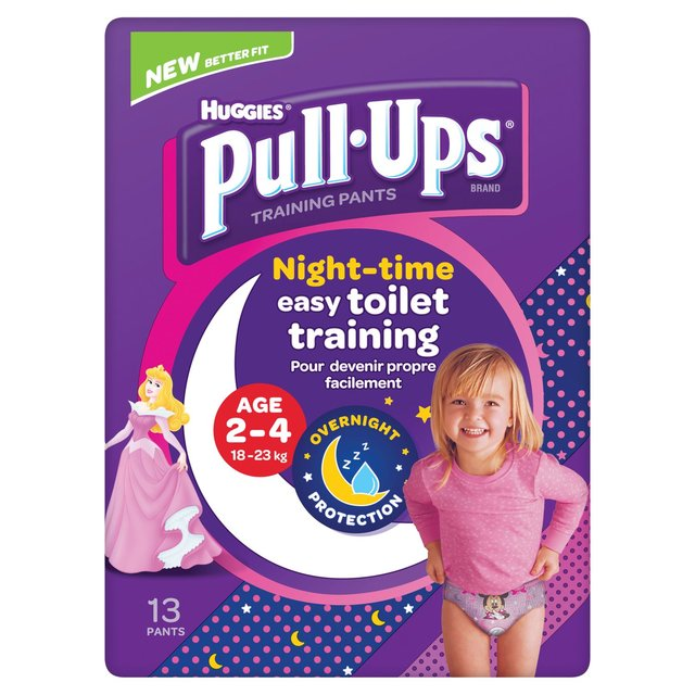 Huggies Pull Ups Girls 2-4 Years Night Time Potty Training