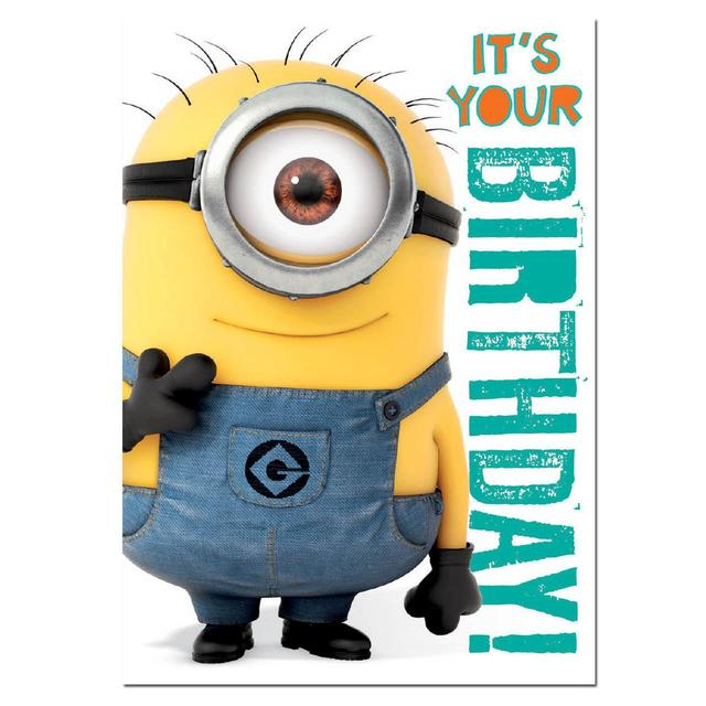 Despicable Me 2 Minions Sound Birthday Card