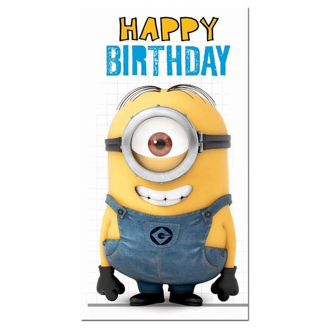 Despicable Me Minions Birthday Card From Ocado