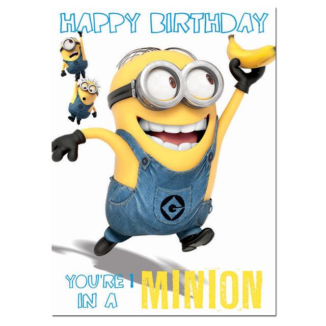 Despicable Me Minions Birthday Card From Ocado