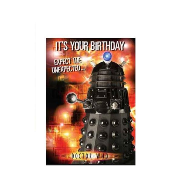 Dr Who Birthday Sound Birthday Card From Ocado