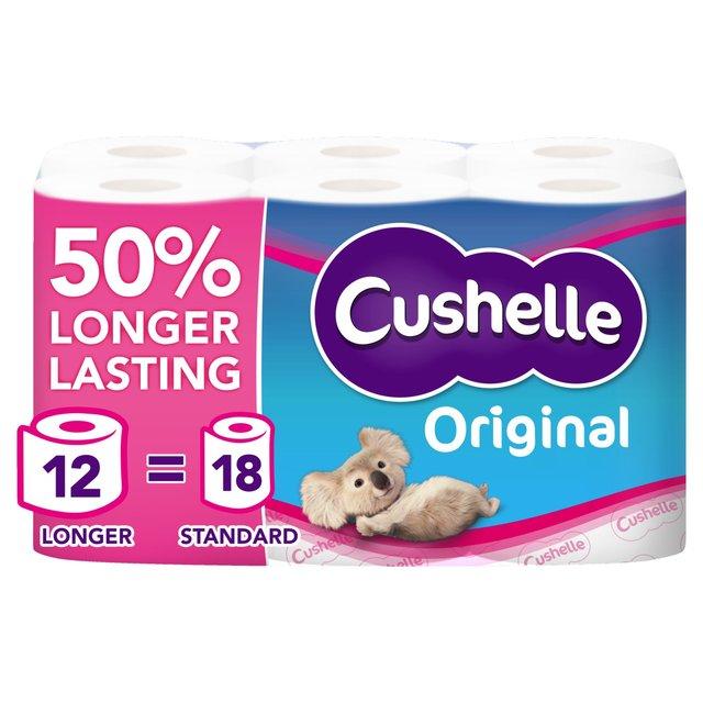 Cushelle Toilet Tissue White 16 Per Pack From Ocado