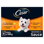 Cesar Deliciously Fresh Dog Food Pouches Meat in Sauce
