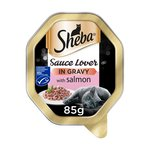 Sheba Sauce Lover Cat Tray with Salmon