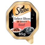 Sheba Select Slices Beef in Gravy Adult Wet Cat Food Tray
