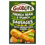 Goodlife Green Bean, Spinach & Wensleydale Sausages Frozen