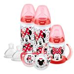 NUK Disney Minnie Mouse Bottles, Cup & Soother Set, 6-18 Months)