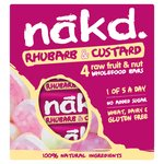 Nakd Free From Rhubarb & Custard Fruit & Nut Bar Multipack