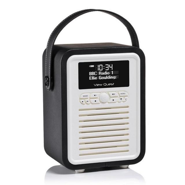 black retro mini digital radio from ocado. Black Bedroom Furniture Sets. Home Design Ideas